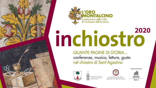Locandina dell'iniziativa inchiostro a Montalcino 2020 ottobre