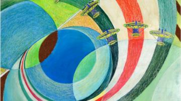 Mostra dedicata a Sibò futurista del Monte Amiata - particolare dell'opera