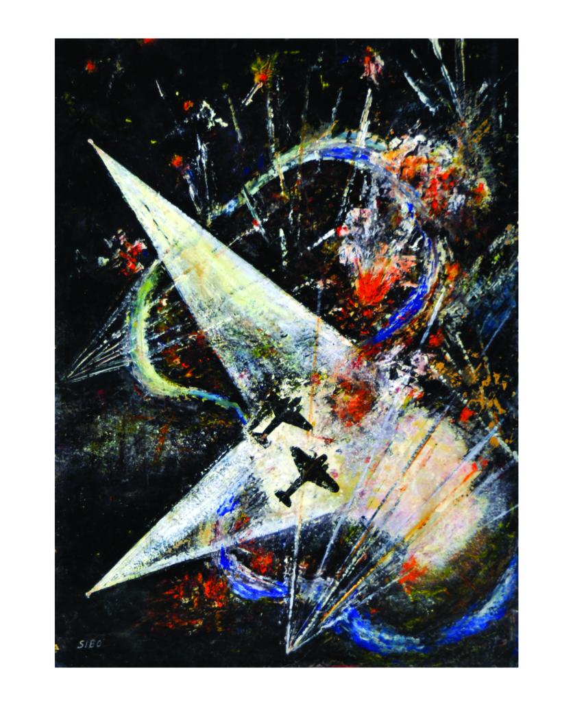 opera esposta in mostra dell'artista Sibò